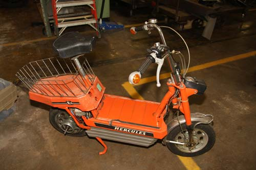 Electric Motor For Bicycle >> Hercules E1 electric scooter-1974 - Lane Motor Museum